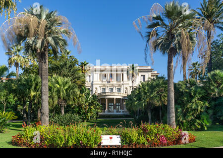 Musee (Museum) Massena, Promenade des Anglais, Nice, Alpes Maritimes, Provence, Cote d'Azur, French Riviera, France, Europe - Stock Image
