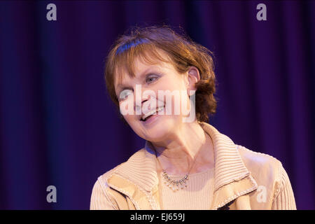 Madeline Smith English actress, James Bond girl 'Miss Caruso' in 'Live and Let Die', at a recording of 'The David - Stock Image