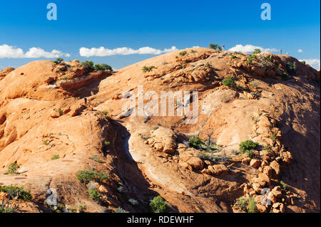 Upheaval Dome Overlook trail, Canyonlands National Park, Utah, USA. - Stock Image