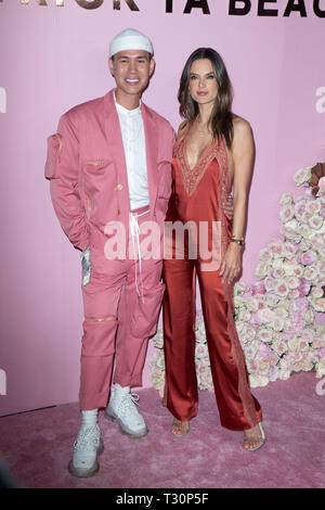 Los Angeles, USA. 30th Jan, 2019. Patrick Ta and Alessandra Ambrosio attend the launch of Patrick Ta's Beauty Collection at Goya Studios on April 04, 2019 in Los Angeles, California. Credit: The Photo Access/Alamy Live News - Stock Image