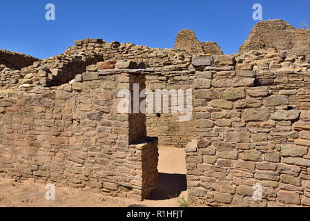 T-shaped Door, Aztec Ruins National Monument, New Mexico, USA 180927_69635 - Stock Image