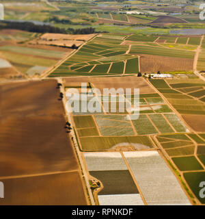 Aerial View of Agricultural Farmland - Stock Image