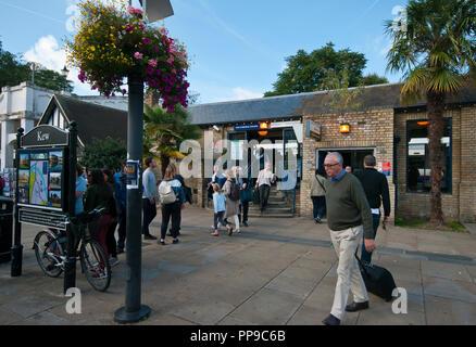 Entrance To Kew Underground Railway Station London England UK - Stock Image