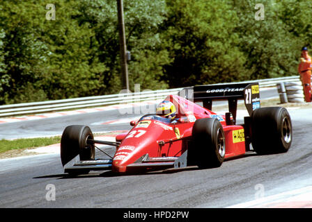 1986 Michele Alboreto Italian Ferrari F186 Spa Belgian GP 4th - Stock Image