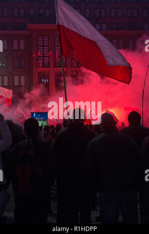 Warsaw, Poland, 11 November 2018: Celebrations of Polish Independence Day - Stock Image