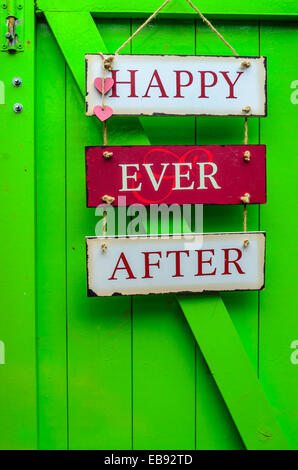 Happy ever after home decoration - Stock Image