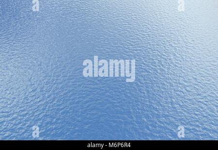 Blue water sea background - Stock Image