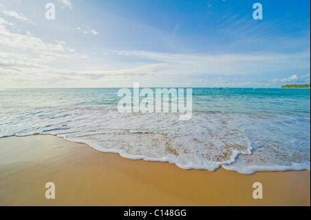 tropical beach, caribbean, - Stock Image
