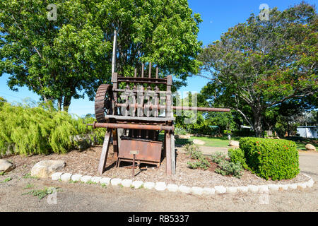 Stampers are the remains of a gold battery in Georgetown, a small rural town along the Savannah Way, Queensland, QLD, Australia - Stock Image