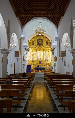 Church of the Immaculate Conception in the White village of Mijas Pueblo Malaga Costa del Sol Andalusia Spain. - Stock Image