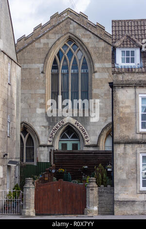 Spinkes Printing Works, a Grade II Listed Building in Chippenham, Wiltshire - Stock Image