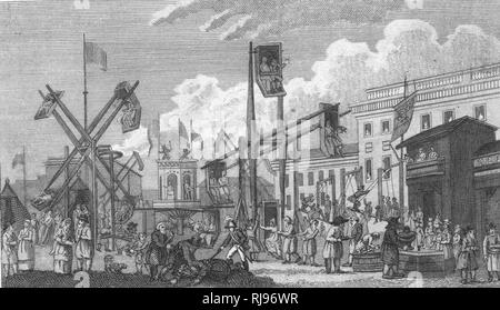 A fair in Russia in 1803 - Stock Image