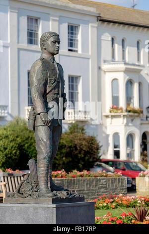 Statue of Herbert George Columbine winner of the Victoria cross - Stock Image