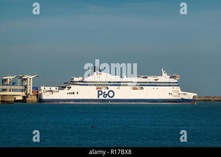 Spirit of Britain,P&O,Cross Channel Ferry,Dover,Kent,England,UK - Stock Image