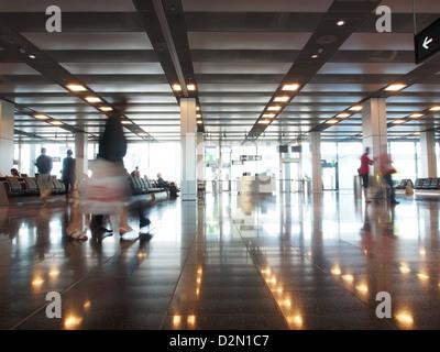 Waiting Area, Zurich airport, Zurich, Switzerland, Europe - Stock Image
