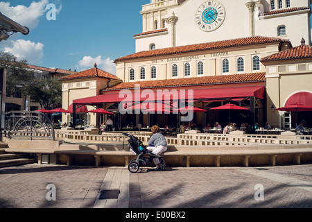 View of the Harriet Himmel Theater at City Place in West Palm Beach, Florida. - Stock Image
