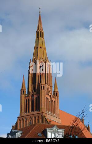 st. bartholomew church in demmin - Stock Image