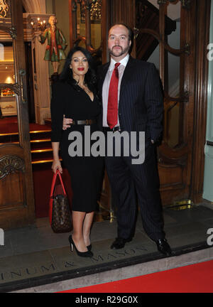 'Fortnum and Mason: Christmas and Other Winter Feasts' book launch in London  Featuring: Johnathan Sothcott, Janine Narissa Where: London, United Kingdom When: 17 Oct 2018 Credit: WENN.com - Stock Image