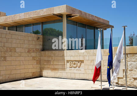 Bank of Valletta, ( new Chairman + Board offices), at House of the Four Winds, Hastings Garden, Valletta, MaltaBank - Stock Image
