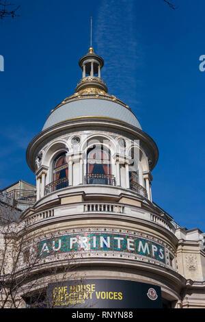 Printemps department store, Paris, France - Stock Image