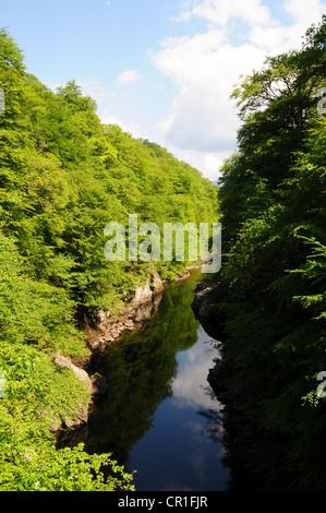 Linn of Tummel, River Garry near Pitlochry, Perthshire - Stock Image