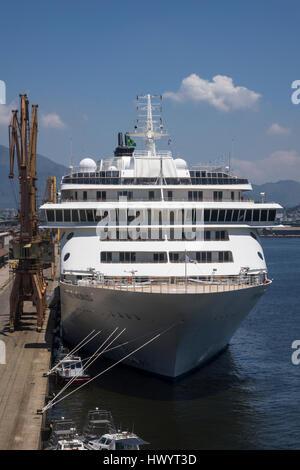 The World cruise ship moored in Rio de Janeiro, Brazil - Stock Image