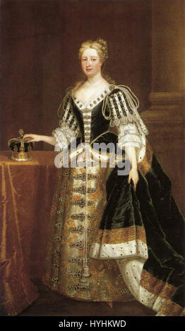 Caroline of Ansbach by studio of Charles Jervas - Stock Image