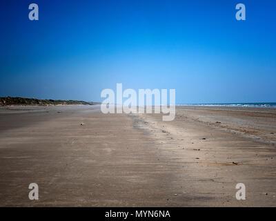 Pendine sands, Carmarthen Bayon the south coast ofWales, UK - Stock Image