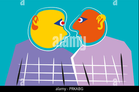 Conversation.   Abstract drawing of conversation between people. - Stock Image