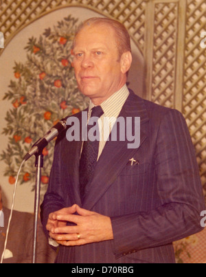 President Gerald Ford, Palm Beach, ca 1975 - Stock Image