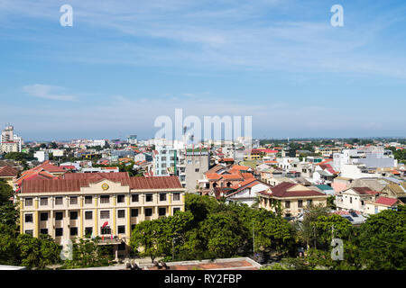 High view over rooftops of modern buildings in Hue, Thua Thien–Hue Province, Vietnam, Asia - Stock Image