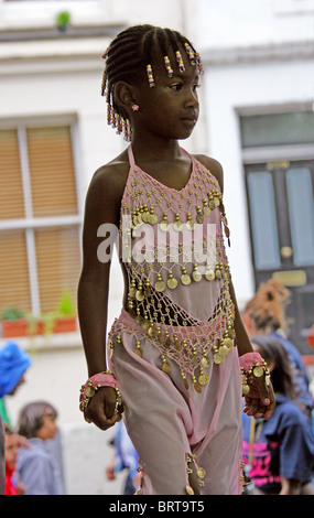 Caribbean Girl at the Nottinghill Carnival 2010 - Stock Image