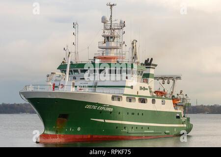 Research Vessel Celtic Explorer - Stock Image