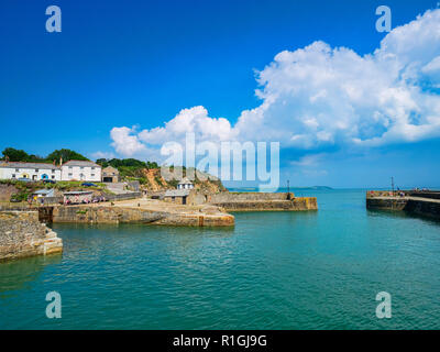 11 June 2018: Charlestown, Cornwall, UK - An unspoiled example of a Georgian working port, it was built between 1791 and 1801, and has been used... - Stock Image