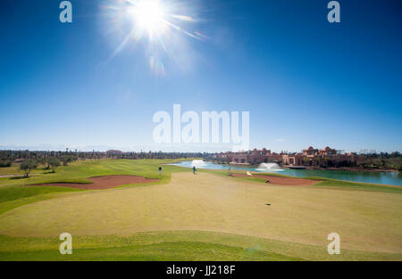 Morrocan golf course in the blazing winter sun. - Stock Image