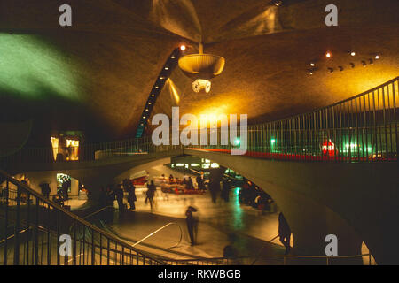 bridge, TWA terminal, JFK airport, New York, USA - Stock Image