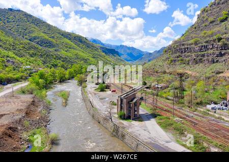 Alaverdi Copper Factory in Northern Armenia, taken in April 2019rn' taken in hdr - Stock Image