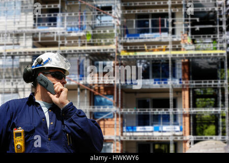 construction worker and building industry - Stock Image