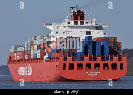 Rio Blanco leaving Hamburg - Stock Image
