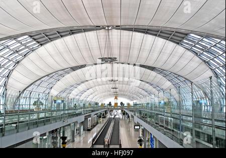 SuvaMabhumi international airport Bangkok Thailand - Stock Image