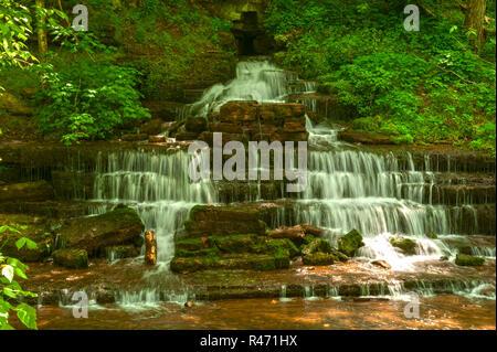Fulling Mill Falls also called (Shannon Run Falls) at Shaker Village in Kentucky - Stock Image