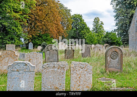 Churchyard at Bluntisham-cum-Earith, where Dorothy L. Sayers lived and where her father was Reverend (St. Mary Church) - Stock Image