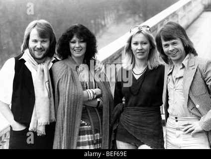 ABBA in the late-1970's (L-R) Benny Andersson, Anni-Frid Lyngstad (Frida), Agnetha Fältskog, and Björn - Stock Image