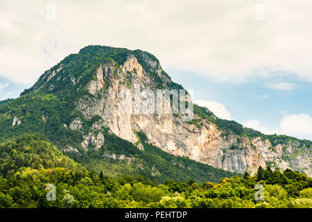 Looking up at Monte Lefre in the Valsugana, Trentino, Italy - Stock Image