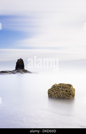 Saltwick Bay at dawn, nr Whitby. - Stock Image