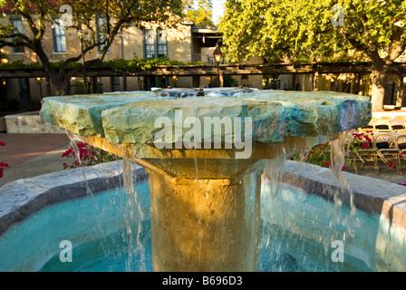decorative water fountain Mayor maury maverick plaza La Villita historic arts village san Antonio texas tx tourist - Stock Image