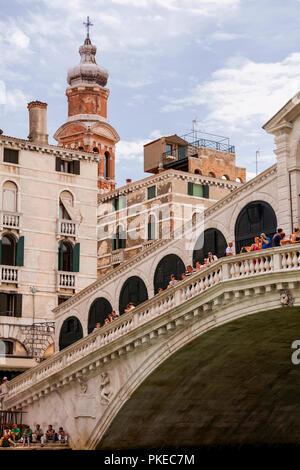 Rialto Bridge; Venice, Italy - Stock Image