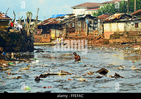 Kroo bay, Freetown, Sierra Leone. - Stock Image