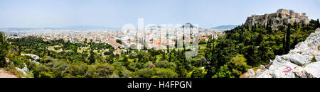 Athens, Greece. View from Areopagus with the Acropolis hill. - Stock Image