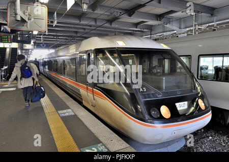 Japan, train in the Matsumoto station - Stock Image
